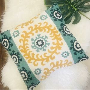 Pier 1 embroidered throw pillow
